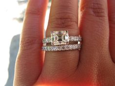 One of My Fave East West Emerald cut rings