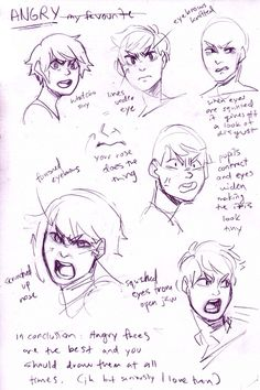 facial expressions: angry