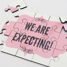 """Discovering youre pregnant is amazing, but telling everyone? Even MORE fun! Our Personalised Pregnancy Reveal Jigsaw is the perfect way to say """"Were Expecting!"""" A baby announcement can be one of the most memorable, meaningful and just plain fun parts of pregnancy. What better way to"""