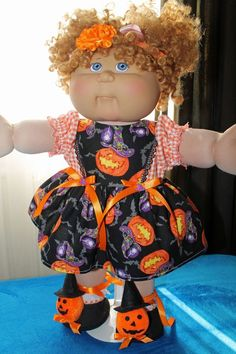 """Cabbage Patch Doll Cloths - Halloween Outfit -  16"""" doll #HandmadeDollCloths…"""
