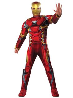 Halloween Captain America Civil War Deluxe Muscle Chest Iron Man Costume Adult