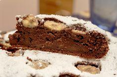 Torta Yoguirt, Cacao e Banana, prima fetta