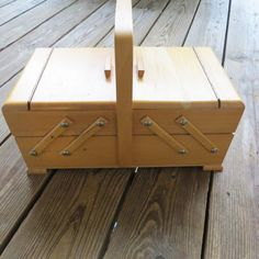 Vintage As Strommen Bruk Hamar Sewing Box Made In Norway Filled With Vintage…