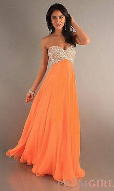 Luminous orange prom dress | Prom dresses | Pinterest | Prom ...