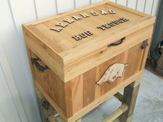 Outdoor Wooden Cooler Cowboy Cooler by L3Hobbies on Etsy, $250.00