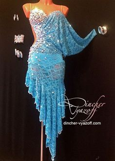 Blue Latin. Would you add this to your ballroom gown collection? #danceRAL
