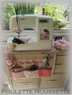Porta-accesorios para la máquina de coser. Imprescindible!