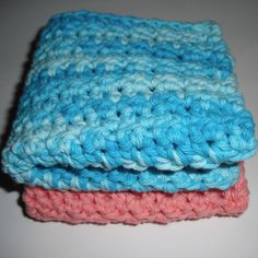 Free Crochet Pattern! These cotton crocheted washcloths are soft and so scrubby all at the same time. It really is a spaexperience.