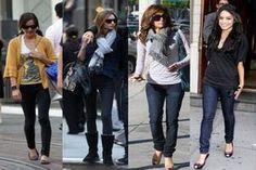 Обувь с джинсами фото
