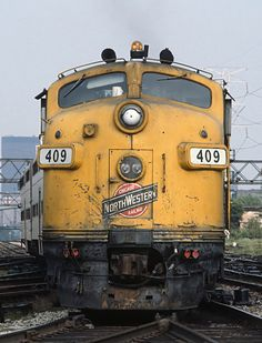 Railroads, Chicago-style, Chicago & Northwestern F7A 409 at about Western...