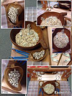 """Black eyed beans, bones & tweezers... from Rachel ("""",)"""