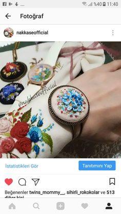 #embroidery #kurdelenakisi #ribbonembroidery #brezilyanakışı #rokoko #aksesuar #handmade #nakış Ribbon Embroidery, Embroidery Patterns, Silk Ribbon, Bracelet Watch, Bracelets, Accessories, Hand Embroidery, Ribbons, Hands