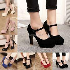 Sexy Womens Pumps Platform Ankle Slim Strap Stiletto Fashion High Heels Shoes