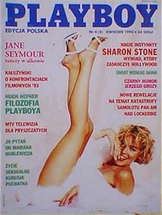 Playboy (Poland) April 1993  with Sharon Stone on the cover of the magazine