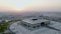 Al Bayt Stadium Progress – July 2019 | Qatar 2022 تقدم استاد البيت – يول... Fifa World Cup, Airplane View, Graphic Art