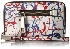 Marc Jacobs Splatter Paint Zip Phone Wristlet Clutch  White Multi One size -- Want additional info? Click on the image. (This is an affiliate link)