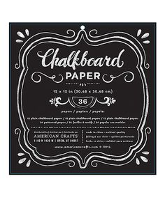 Take a look at this Chalkboard & Patterned Paper Set today!