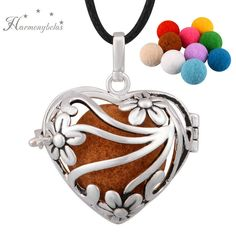 Women Aromatherapy Silver Locket Perfumed Diffuser For Young Living Necklace