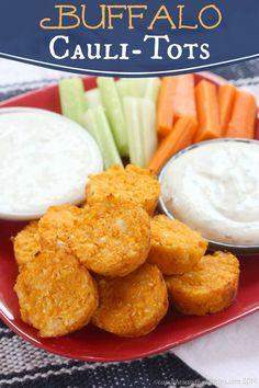 Buffalo Cauli-Tots | cupcakesandkalechips.com | #cauliflower #glutenfree #vegetables