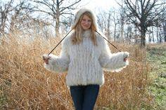 SAGA  Fox Fur Coat   Vintage 70s  M L Boho by RubyChicBoutique, $225.00