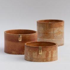 Ariane Prin mixes metal dust with plaster for Rust homeware range