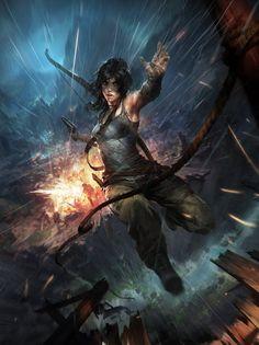 Chase - by Viktor Titov (Lara Croft from Tomb Raider)