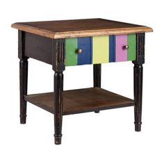ZUO, Holloway Natural Distressed Wood Side Table, 98309 at The Home Depot - Tablet