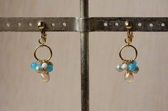 Earrings チェコガラスビーズシンプルイヤリング ピアス ハンドメイド インテリア 雑貨 Handmade ¥580yen 〆08月15日