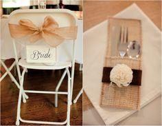 Burlap Wedding details