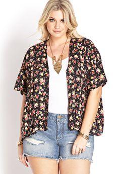 Romantic Rose Kimono   FOREVER21 PLUS - 2000088413