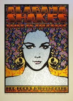 Arts Graphiques | Chuck Sperry | Alabama Shakes | Tirage d'art en série limitée sur L'oeil ouvert