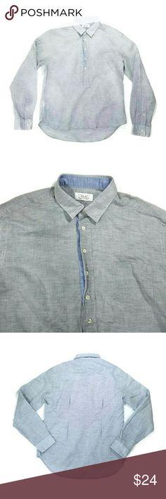 Zara Man button up shirt Great condition. Size medium. 70% cotton, 30% linen. Sport moda. Color light gray. Zara Shirts Casual Button Down Shirts