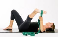 The 5 Best Hip Stretches to Relieve Tightness Now: Supine Adductor Stretch with Strap #HipFlexorsExercises
