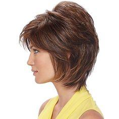 brevi marrone chiaro ondulate parrucche dei capelli umani senza cappuccio – EUR € 66.99