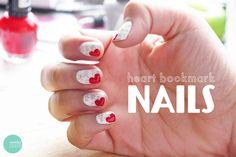 cute v-day nails
