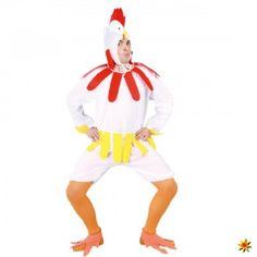 Gockl-Kostüm weiß, lustiger Hahn kaufen