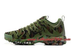 low priced 489c0 12f48 Nike Air Max Plus TN Camo ID Vert Chaussures Nike Prix Pas Cher Pour Homme