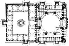 selimiye mosque drawing - Google Search Ap Art, Art History, Floor Plans, Mosques, How To Plan, Architecture, Homework, Drawings, Ottoman