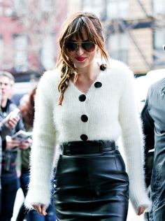 """Dakota arriving at her hotel in NY "" / beautiful / stunning / gorgeous /  Dakota Johnson / Fifty Shades Of Grey"
