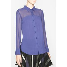 BCBGMAXAZRIA - SHOP BY CATEGORY: TOPS: VIEW ALL: BCBGENERATION CONTRAST-YOKE SHIRT  We love this color blue! Such a great transitional fall top. available at Sachi