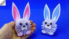 Len papier, nožnice, lepidlo a fixky: Takto zabavíte deti na pár hodín a veľkonoční zajkovia z papiera ich nadchnú! Paper Crafts Origami, Diy Origami, Paper Crafts For Kids, Diy Paper, Diy For Kids, Kids Crafts, Easter Crafts, Easter Ideas, Rabbit Crafts