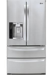 LG - 26.8 Cu. Ft. 4-Door French Door Refrigerator with Thru-the-Door Ice and Water - Stainless-Steel - Larger Front $2600 at Best Buy