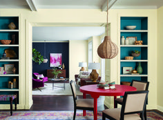 Perfect! We need some of these colors. Palettes Inspired By #Travel - ELLEDecor.com