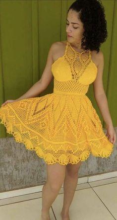 Dress Fashion Pdf also Crochet Dress Easy; Uiw Red Dress Fashion Show 2019 what Jersey Knit Dress Pattern Free Mode Crochet, Crochet Bra, Crochet Halter Tops, Crochet Bikini Top, Crochet Clothes, Diy Clothes, Crochet Dresses, Crochet Gratis, Crochet Shirt