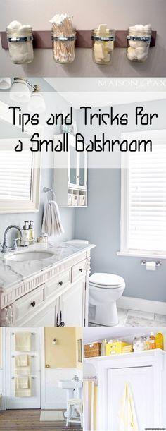 Small bathroom, small bathroom decor, decorating a small bathroom, popular pin, bathroom organization, tiny bathroom tricks, home decor, DIY bathroom, DIY bathroom storage, bathroom storage ideas