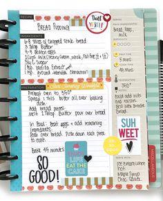 Bread Pudding in The Happy Planner® Recipe Organizer by mambi Design Team member Mary-Ann Maldonado | me & my BIG ideas