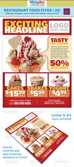 Catering Service Free Flyer Template Vita Poster Pinterest