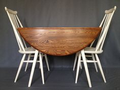 Vintage Ercol Drop Leaf oval table and 4 goldsmith by BBbespoke, £450.00