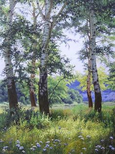 Kirichenko Gennadiy painting (oil) #tree #art #landscape: