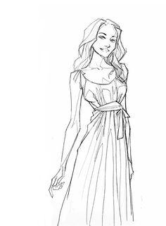 girl sketch - by Ghislain Barbe